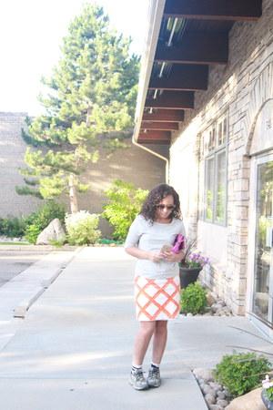 heather gray sweatshirt kohls sweater - hot pink Candies purse