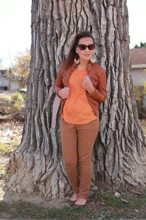 tawny jordache jeans - tawny leather Target jacket