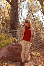 camel suede thrifted cardigan - tawny Charlotte Russe shoes