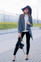black H&M hat - white BangGood shirt - black Rebecca Minkoff bag