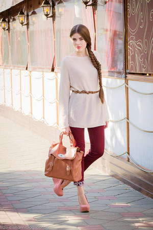 SIX bag - romashkashopru pants - romashkashopru jumper - H&amp;M belt