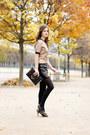 Gold-brocade-marni-top-black-leather-claudie-pierlot-skirt