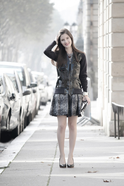 black Marni jacket - silver Alexander Wang bag