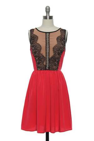 red lace dress Lace Affair dress