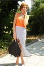 Black-givenchy-bag-carrot-orange-zara-top-white-romwe-skirt-white-zara-hee