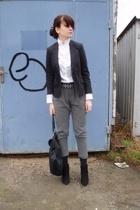 Zara shirt - Calliope blazer - Zara pants - Zara belt - Zara shoes - Zara access
