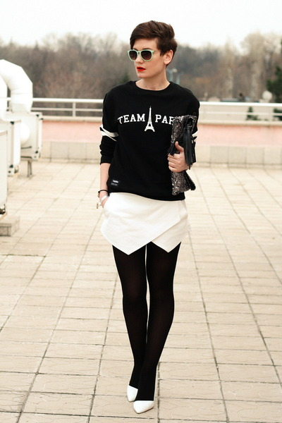 white Zara shoes - white Zara shorts