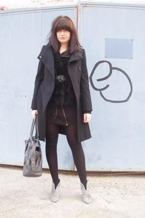 Zara shoes - Silence and Noice dress - Zara coat - Zara bag - vintage vest