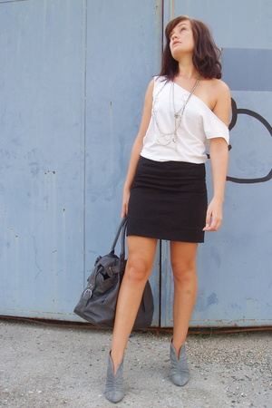aa top - Zara skirt - Zara shoes - Zara purse