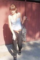 Topshop top - Topshop pants - H&M belt - Zara shoes - Zara accessories
