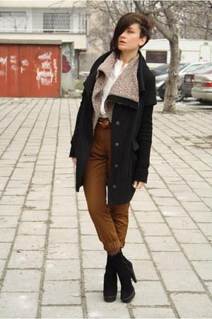 Zara boots - amen coat - Public Beware jacket - Zara shirt - pants