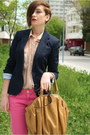 Navy-zara-blazer-tan-american-apparel-shirt-camel-zara-bag-hot-pink-zara-p