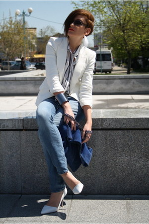 Zara blazer - Zara shoes - Zara jeans - Stradivarius shirt - Zara bag