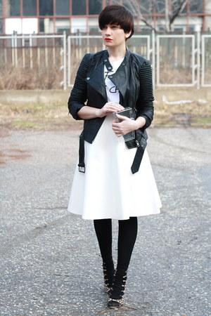 black asos jacket - brown Zara heels
