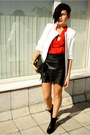 Black-zara-boots-white-zara-coat-red-romwe-shirt-black-romwe-skirt