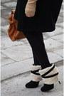 Black-zara-coat-eggshell-urban-outfitters-hat-nude-asos-gloves-tawny-ebay-