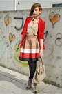 Beige-asos-boots-red-public-beware-jacket-tan-american-apparel-shirt-beige