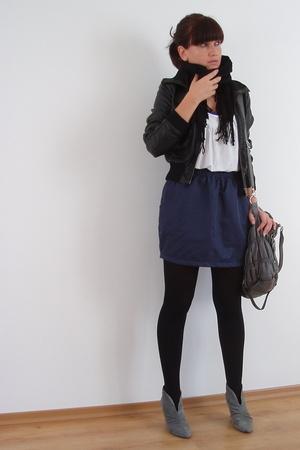 H&M jacket - aa skirt - blendshe purse - Zara shoes