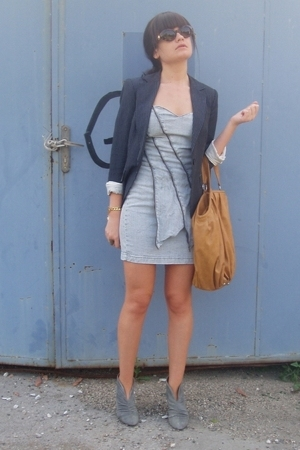 Zara blazer - Miss Selfridge dress - Zara accessories - Zara shoes