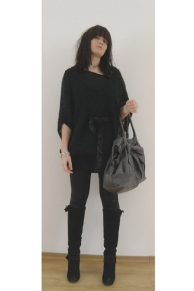 Miss Sixty sweater - Zara accessories - some Italian brand boots - American Appa