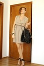Beige-romwe-dress-black-givenchy-bag-black-zara-sandals
