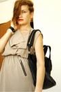 Beige-romwe-dress-black-givenchy-bag-black-zara-sandals