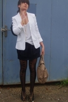 H&M blazer - Oasis top - Topshop skirt - Fly London shoes - Oasis necklace - COS