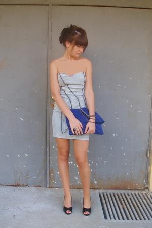 beige sunglasses Zara accessories - blue suede bag Zara accessories