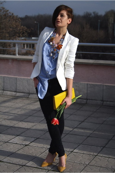 Zara shoes - Zara jeans - Zara blazer - Mango shirt - H&M bag