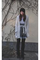 Primark boots - H&M cardigan