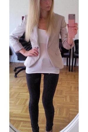 Zara blazer - vintage top - Topshop jeans