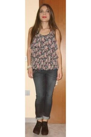 telly weijl boots - jeans - Zara blazer