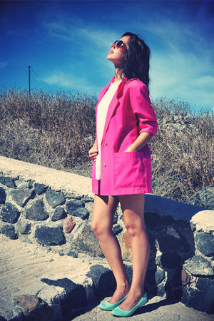 pink thrifted vintage blazer - blue Market shoes