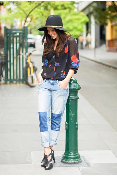 navy patch Billabong jeans - black wool Sportsgirl hat - black Minkpink Carnaby