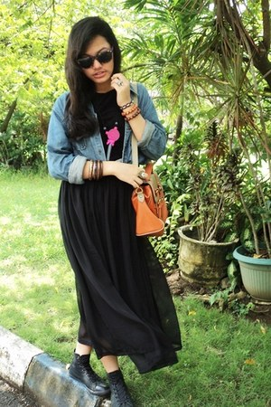 Zara skirt - giordano jacket - bag Hermes bag - Urban Outfitters necklace
