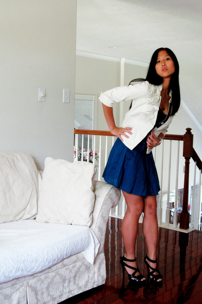 Anthropologie blazer - Charlotte Russe top - f21 skirt - Urbanogcom shoes
