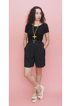 black polkadot 90s vintage shorts