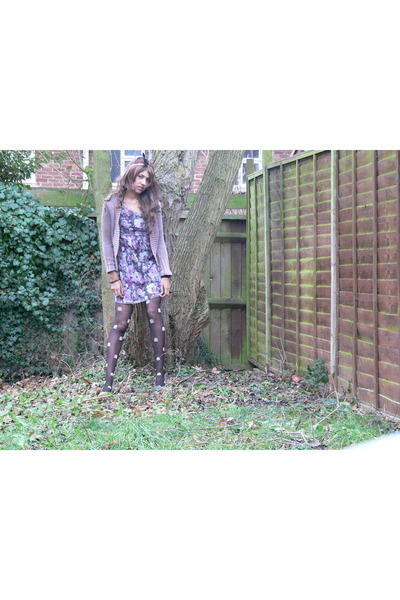 Accessorize hat - Republic dress - Henry Holland tights - Newlook wedges