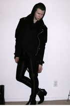 black prototype by me sweater - black Red Balls London jacket - black American A