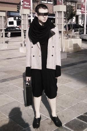 silver via ioffer sunglasses - black American Apparel scarf - white vintage blaz