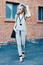 black stuart weitzman shoes - black Hermes bag - zeroUV sunglasses