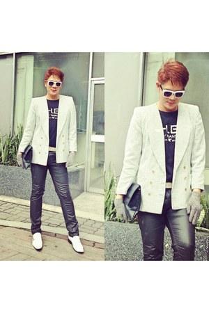 off white shirt - off white black Mango shirt
