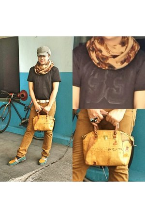 orange scarf - orange cotton H&M scarf