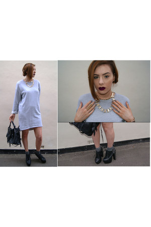 Topshop dress - Alexander Wang bag - Topshop socks - Jeffrey Campbell heels