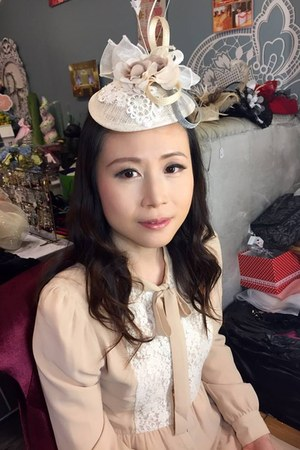 neutral bread n butter dress - neutral Angel Wong Image hat