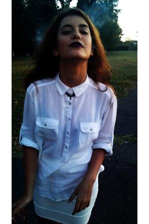 Zara shirt - BERSKA skirt