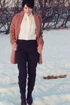 Topshop coat - mom jeans Topshop jeans - H&M blouse