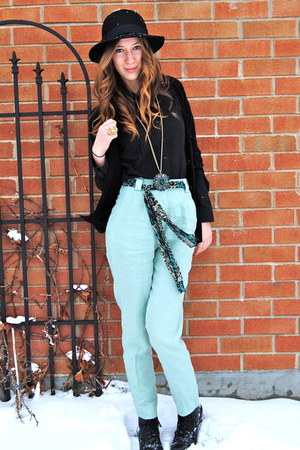 aquamarine American Apparel pants - black joe fresh style cardigan - black H&M h