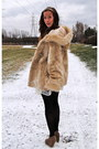 Light-brown-forever-21-shoes-white-forever-21-dress-beige-vintage-coat-cre