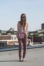 Light-brown-gap-pants-pink-sheer-american-apparel-top-heather-gray-h-m-heels